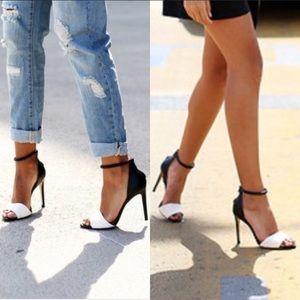 ZARA Black and white heels